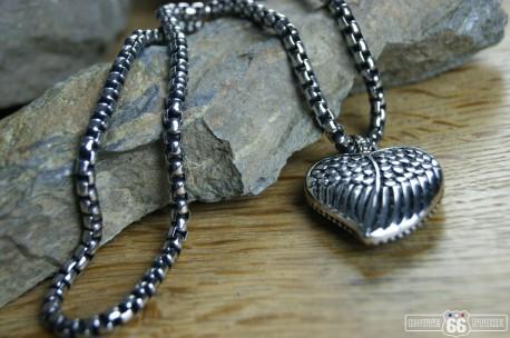 PŘÍVĚSEK Z CHIRURGICKÉ OCELI HEART WINGS