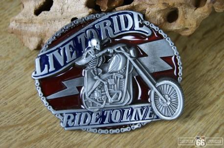 Přezka opasková Live to Ride 2