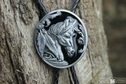 BOLO TIE HORSE HEAD BLACK