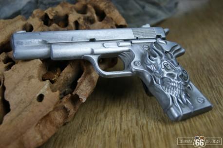 Přezka opasková Skull Gun