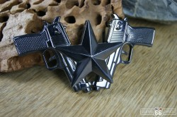Přezka opasková Gun Star černá