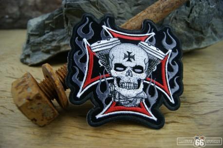 Nášivka Cross Motor Skull