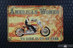 REKLAMNÍ CEDULE AMERICAN WOMAN