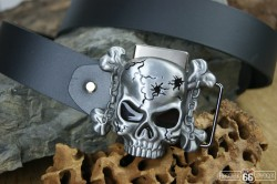 Přezka opasková Skull Chain + zapalovač