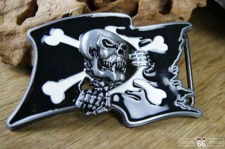 Přezka opasková Skull Pirate Flag